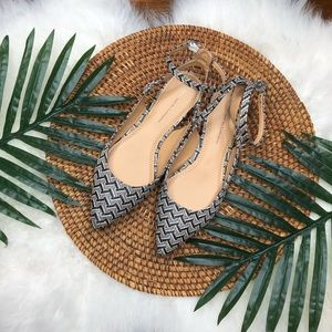 (Anthro) pilcro pointed toe woven flats